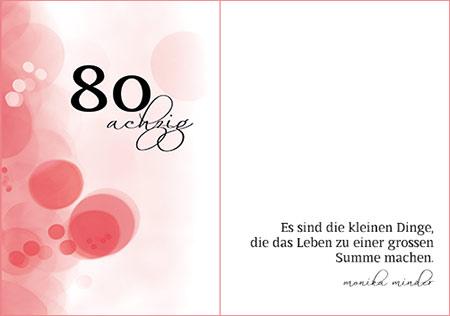 Spruche Zum 80 Geburtstag Geburtstagsspruche Kurze Und Lange